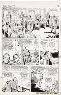 Jack Kirby and George Roussos Sgt. Fury #7, page 10 Original Art (Marvel, 1964)