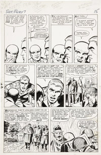 Jack Kirby and George Roussos (as George Bell) Sgt. Fury #7, page 12 Original Art (Marvel, 1964)