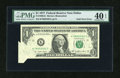 Error Notes:Foldovers, Fr. 1909-K $1 1977 Federal Reserve Note. PMG Extremely Fine 40EPQ.. ...