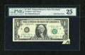 Error Notes:Foldovers, Fr. 1908-D $1 1974 Federal Reserve Note. PMG Very Fine 25.. ...
