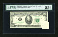 Error Notes:Foldovers, Fr. 2073-H $20 1981 Federal Reserve Note. PMG About Uncirculated 55EPQ.. ...
