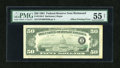 Error Notes:Offsets, Fr. 2120-E $50 1981 Federal Reserve Note. PMG About Uncirculated 55Net.. ...