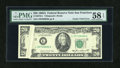 Error Notes:Gutter Folds, Fr. 2075-L $20 1985 Federal Reserve Note. PMG Choice About Unc 58 EPQ.. ...