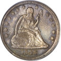 Seated Quarters, 1842 25C Large Date MS62 PCGS....