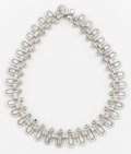 Silver Smalls:Other , A MEXICAN SILVER NECKLACE. Héctor Aguilar, circa 1940. Marks:HA, STERLING, MADE IN MEXICO. 16-1/2 inches long (41.9cm)...