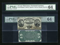 Fractional Currency:Third Issue, Fr. 1274SP/1272SP 15c Third Issue Narrow Margin Pair. ... (Total: 2 notes)