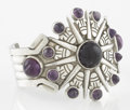 Silver Smalls:Other , A MEXICAN SILVER AND AMETHYST QUARTZ CUFF. William Spratling,Taxco, Mexico, circa 1940. Marks: WS, SPRATLING, MADE INMEX...