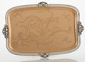 Silver Holloware, American:Trays, AN AMERICAN SILVER AND COPPER TRAY. Gorham Manufacturing Co., Providence, Rhode Island, 1902. Marks: Athenic, G, STERLING,...
