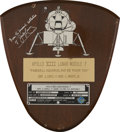 Explorers:Space Exploration, Apollo 13 Flown Lunar Module Spacecraft Identification Plate Display Directly from the Personal Collection of Mission Commande...