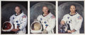 Autographs:Celebrities, Apollo 11 Matching Individual Color Photos Signed.... (Total: 3 Items)
