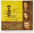 "Movie Posters:Drama, Giant (Warner Brothers, 1956). Six Sheet (81"" X 81"").. ..."