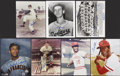 Autographs:Photos, Baseball Stars Signed Collection Of Photographs Lot of 11. ...