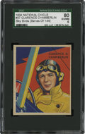 Non-Sport Cards:General, 1934 National Chicle Sky Birds Clarence Chamberlin #37 SGC 80 EX/NM6....