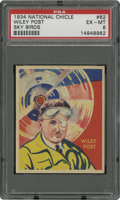 Non-Sport Cards:General, 1934 National Chicle Sky Birds Wiley Post #62 PSA EX-MT 6....