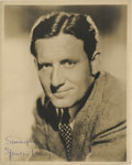 """Movie Posters:Miscellaneous, Spencer Tracy Publicity Still (MGM, 1930s). Autographed Still (8"""" X 10"""").. ..."""
