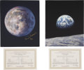 Autographs:Celebrities, Alan Bean Limited Edition Giclée Canvases (Two) Signed (MatchingNumbers).... (Total: 2 Items)