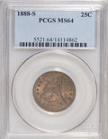 Seated Quarters, 1888-S 25C MS64 PCGS....