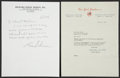 Autographs:Others, 1953 Mickey Mantle Signed Letter....