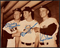 Autographs:Others, Circa 1985 Mickey Mantle, Bobby Murcer & Roger Maris SignedPhotograph....