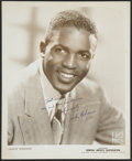 Autographs:Photos, Late 1940's Jackie Robinson Signed Photograph....
