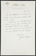 Autographs:Others, 1965 Jackie Robinson Handwritten Signed Letter....