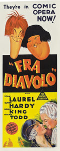 """Movie Posters:Comedy, The Devil's Brother (MGM, 1933). Pre-War Australian Daybill (15"""" X 37"""").. ..."""