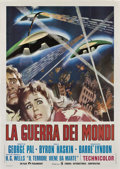 """Movie Posters:Science Fiction, The War of the Worlds (Paramount, R-1973). Italian 4 - Folio (55"""" X78"""").. ..."""