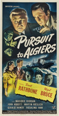 "Movie Posters:Mystery, Pursuit to Algiers (Universal, 1945). Three Sheet (41"" X 81"").. ..."
