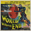 """Movie Posters:Science Fiction, World without End (Allied Artists, 1956). Six Sheet (81"""" X 81"""") Style A.. ..."""