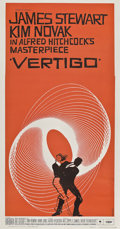 "Movie Posters:Hitchcock, Vertigo (Paramount, 1958). Three Sheet (41"" X 81"").. ..."