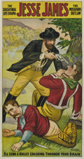 """Movie Posters:Western, Jesse James (Mesco, 1921). Three Sheet (41"""" X 81"""") and Poster (10.5"""" x 28"""").. ... (Total: 2 Items)"""