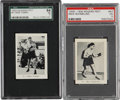 Boxing Cards:General, 1929-1930 Roger Peet Hall of Fame Boxers Graded Pair (2)....