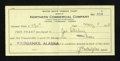 Miscellaneous:Other, Fairbanks, AK- Northern Commercial Company $130 Fare Ticket May 4,1915. ...