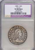 Early Half Dollars, 1805 50C --Polished--NCS. VF Details. O-112, R.2 PCGS Population(1/2). (#39286)...