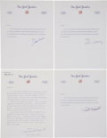 Autographs:Letters, New York Yankees Signed Letters Lot Of 7. ...