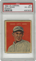 Baseball Cards:Singles (1930-1939), 1933 U.S. Caramel Lefty Gomez #31 PSA VG-EX 4. PSA 4 example of theHall of Famer Lefty Gomez' entry in the scarce 1933 U.S...