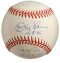 Autographs:Baseballs, New York Yankees Perfect Game Pitchers Baseball Signed by 3. Threeof the ten men who have pitched perfect games in the maj...
