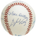 Autographs:Baseballs, 300 Wins Club Multi-Signed Baseball. Eight men who have reached theelusive milestone of pitching to 300 wins at the major ...