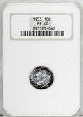 Proof Roosevelt Dimes: , 1953 10C PR68 NGC. NGC Census: (195/11). PCGS Population (19/2).Mintage: 128,800. Numismedia Wsl. Price for NGC/PCGS coin ...