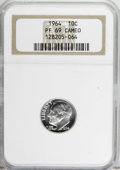 Proof Roosevelt Dimes: , 1964 10C PR69 Cameo NGC. NGC Census: (349/0). PCGS Population(288/1). Numismedia Wsl. Price for NGC/PCGS coin in PR69: $5...
