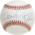 "Autographs:Baseballs, Willie McCovey ""521 HRs"" Single Signed Baseball. Wicked sluggerWillie McCovey makes reference to his robust home run total..."