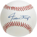 Autographs:Baseballs, Willie Mays Single Signed Baseball. The Say Hey Kid's coveted sigmakes an appearance on the surface of the ONL (White) orb ...