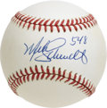 "Autographs:Baseballs, Mike Schmidt ""548"" Single Signed Baseball. After leading the NL inhome runs at the close of a whopping eight seasons, HOF ..."