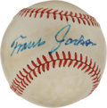 Autographs:Baseballs, Travis Jackson Single Signed Baseball. An integral part of the1930s New York Giants success, Travis Jackson held down the ...