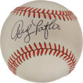 Autographs:Baseballs, Andy Pafko Single Signed Baseball . Beautiful exemplar of a sweetspot signature from Andy Pafko, whose talent helped three...