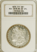 Morgan Dollars: , 1878 7TF $1 Reverse of 1878 MS60 Deep Mirror Prooflike NGC. NGCCensus: (0/0). PCGS Population (11/293). Numismedia Wsl. P...
