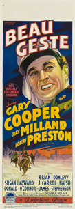 "Movie Posters:Adventure, Beau Geste (Paramount, 1939). Pre-War Australian Daybill (14.5"" X40"").. ..."