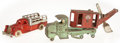 """Antiques:Toys, Hubley General Shovel Truck and Diamond """"T"""" Stake Truck....(Total: 2 Items)"""