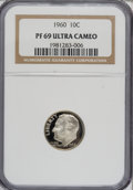 Proof Roosevelt Dimes: , 1960 10C PR69 Ultra Cameo NGC. PCGS Population (111/0). NumismediaWsl. Price for NGC/PCGS coin in PR69...