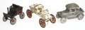 Antiques:Toys, Three Vintage Metal Toy Cars.... (Total: 3 Items)